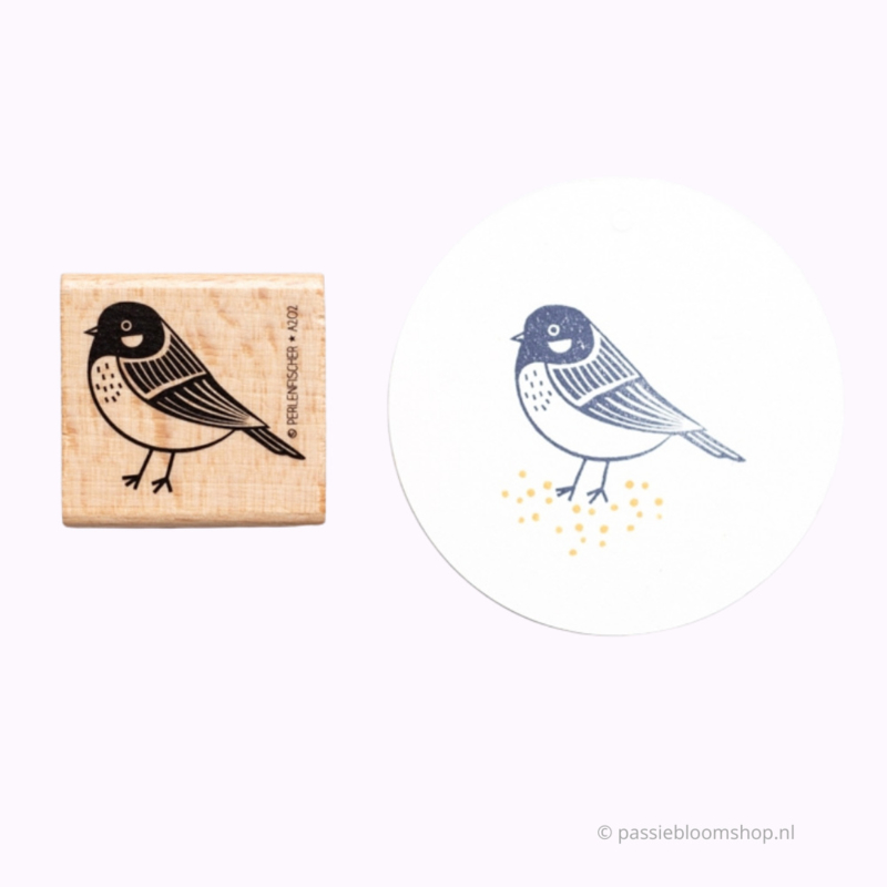 Stempel koolmees vogel