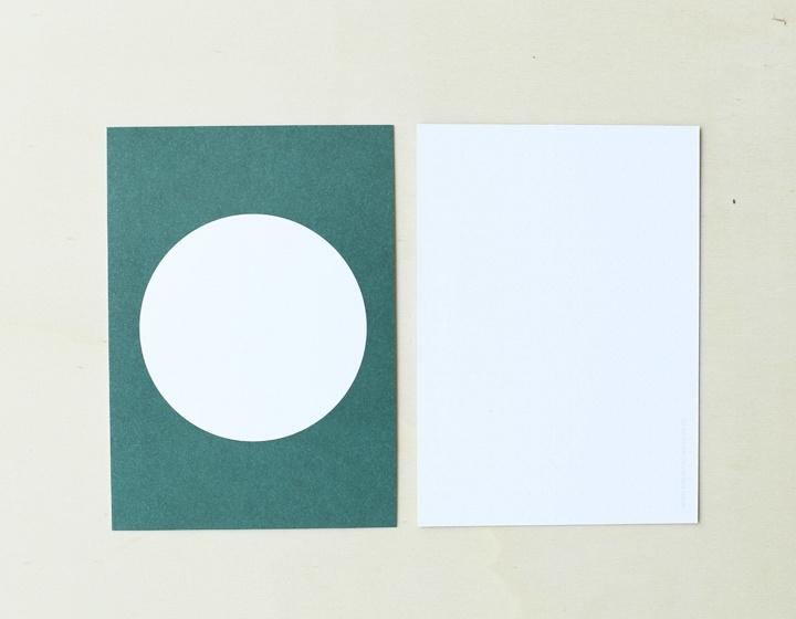 DIY zelf een kaart maken Cirkel groen A6