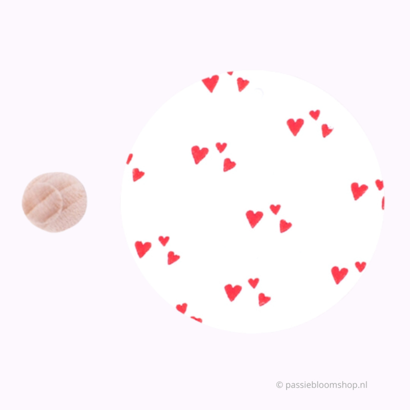 Mini stempel M | Hartjes confetti