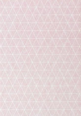 DIY zelf een kaart maken, Roze driehoek A6 DIK