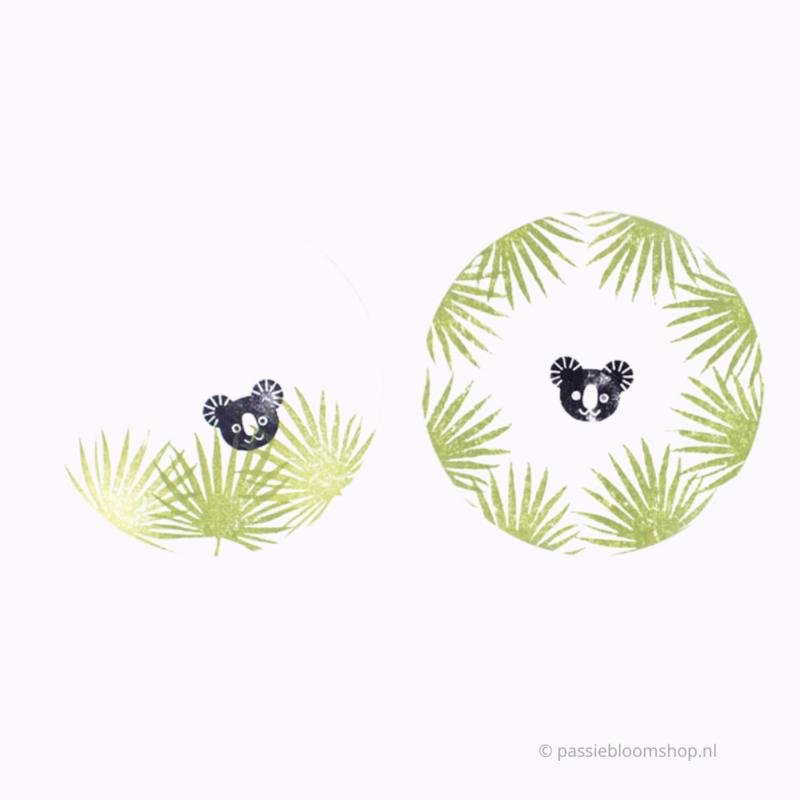 Stempel koala beer hoofdje