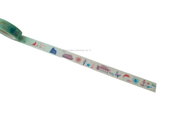 Washi tape zee thema mint groen