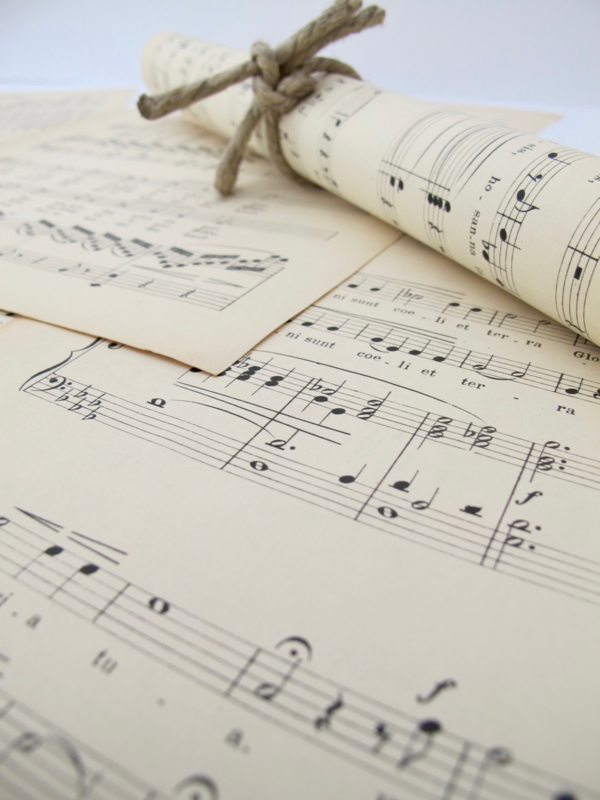 Vintage papier oude muziekpapier vellen