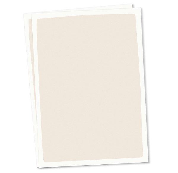 Blanco A6 postkaart créme kleur achtergrond