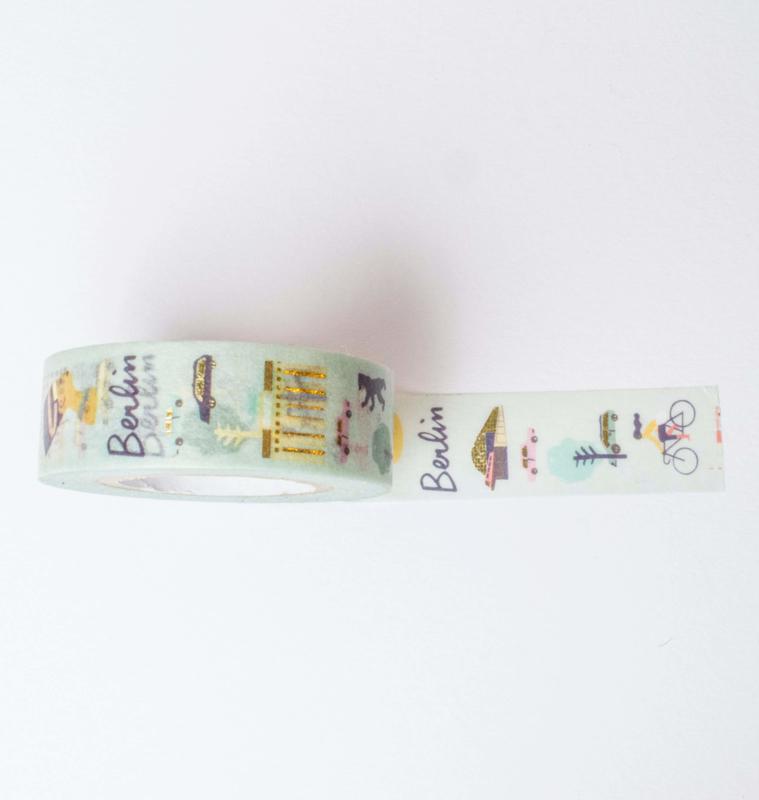 Washi tape   Berlijn, travel journal