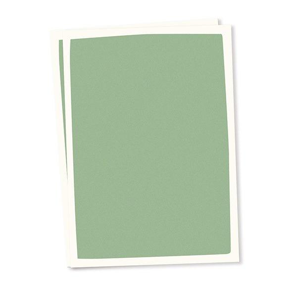 Blanco A6 postkaart pastel groen achtergrond