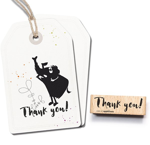 Tekst stempel hout | Thank you
