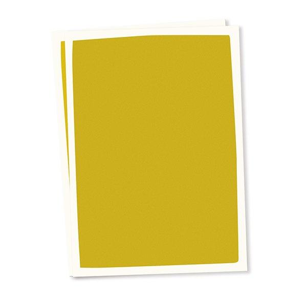 Blanco A6 postkaart okergele achtergrond