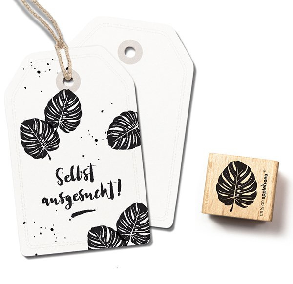 Stempel monstera blad