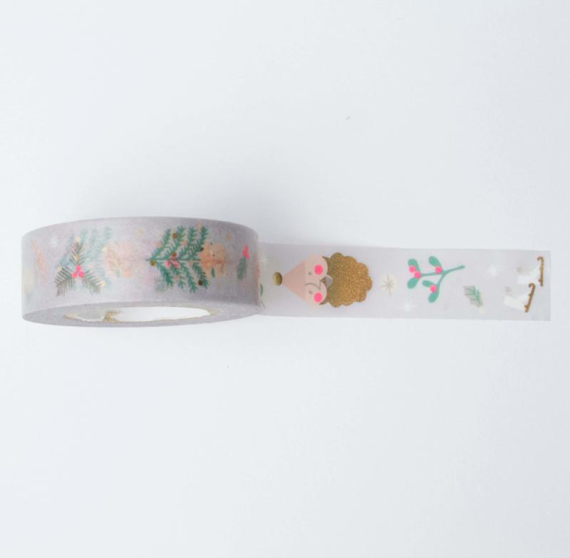 Washi tape | Pastel kerst figuren