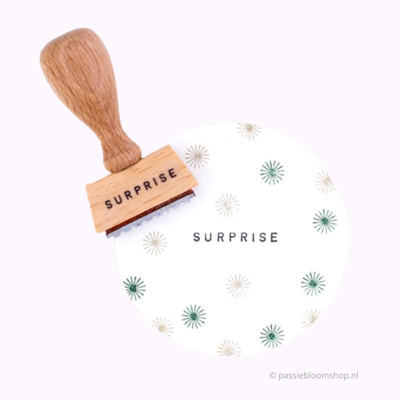 Tekst stempel Surprise