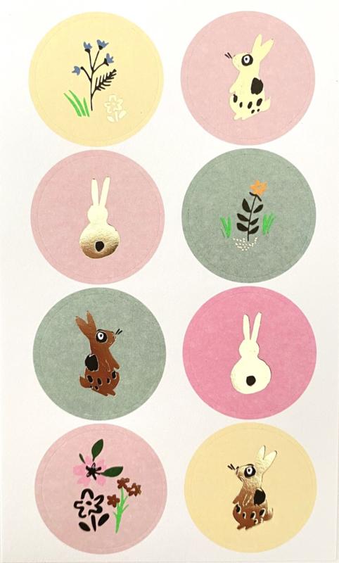 Stickers pastel rond lente