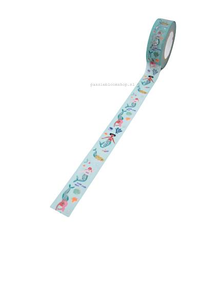 Washi tape sprookjes zeemeermin zee thema