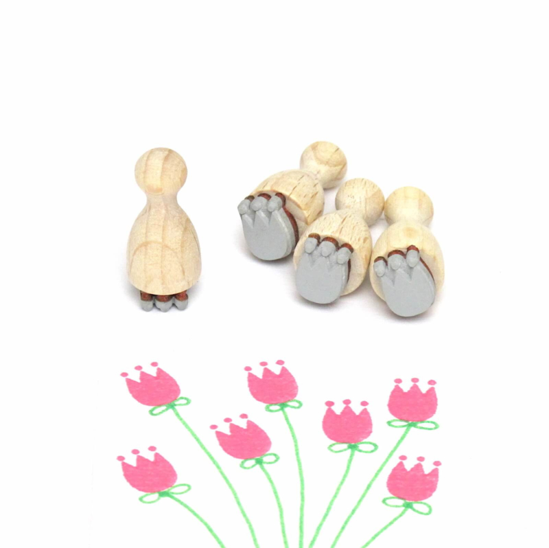 Mini stempel S   BLOEMMETJE   tulpje