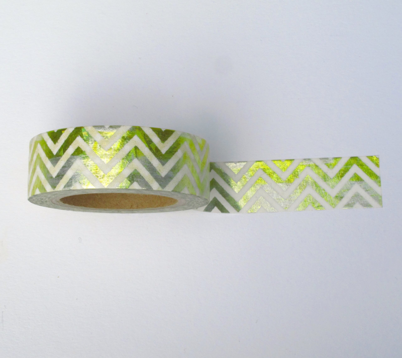 Washi tape | Goud en zilver zigzag waves