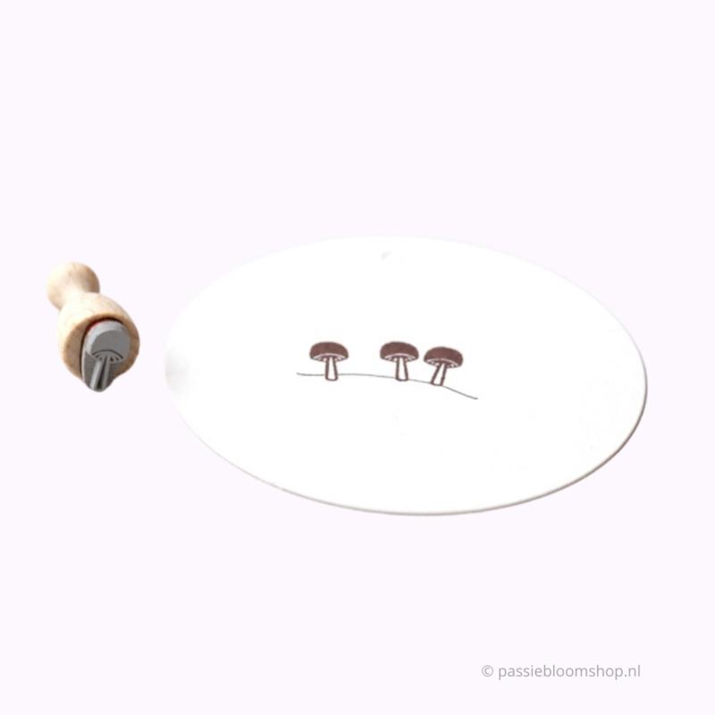 Mini stempel S   Paddenstoel klein