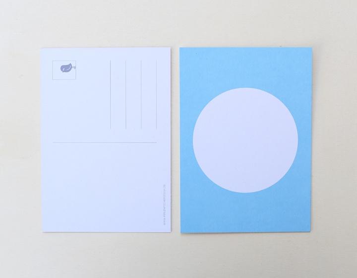 DIY zelf een kaart maken, cirkel blauw A6