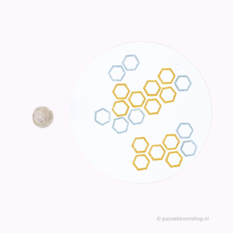 Mini stempeltje S | Honingraad, hexagon