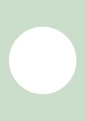 DIY blanco kaart pastel groen