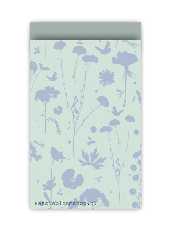 Cadeauzakjes voorjaar bloemen blauw groen