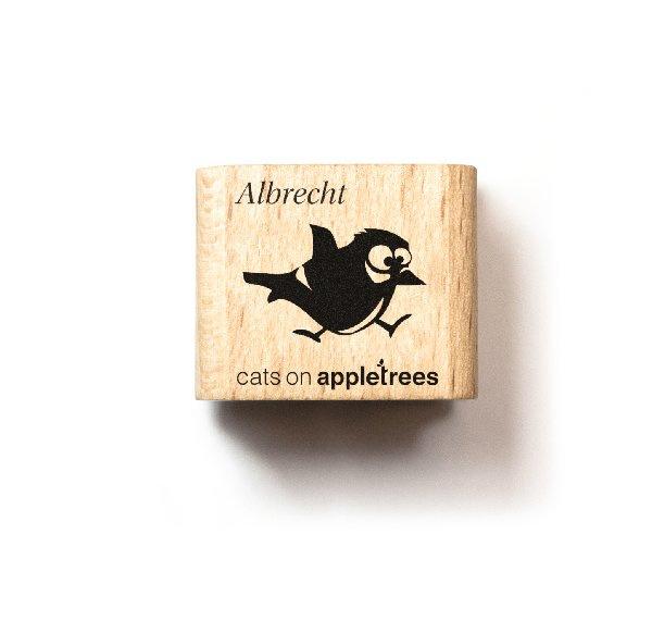 "Mini stempel vliegend vogeltje ""Albrecht"""