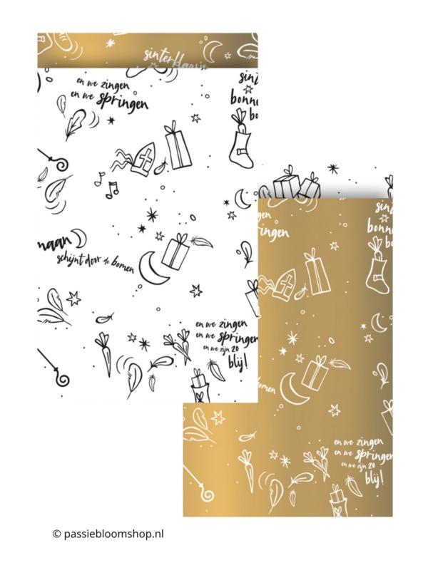MIX gouden sinterklaas zakjes (10 stuks)