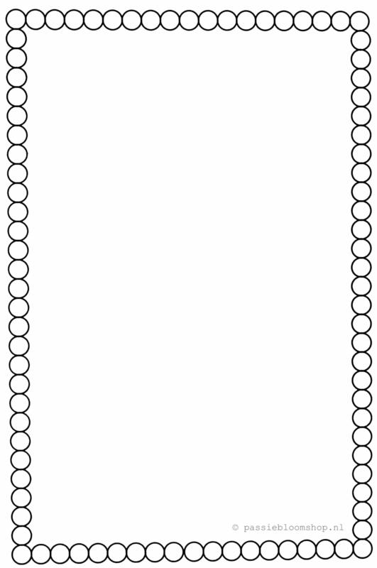 Blanco kaart met  zwarte stippen rand A6