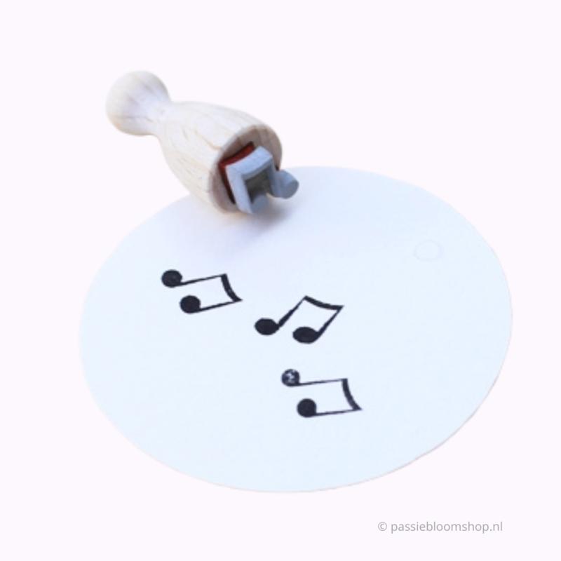 Mini stempel S   Muzieknoot