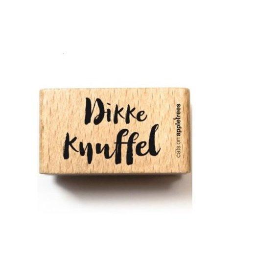 Tekst stempel hout | Dikke knuffel