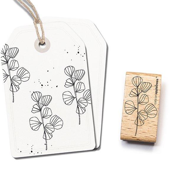 Stempel bloemen aan tak