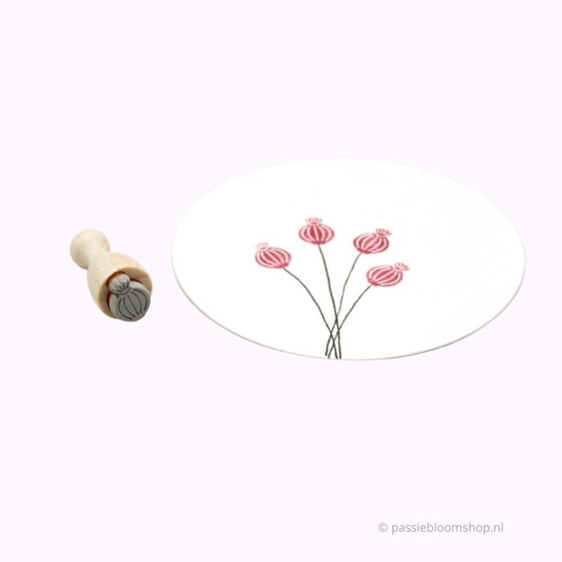 Papaver bloem stempeltje | S |