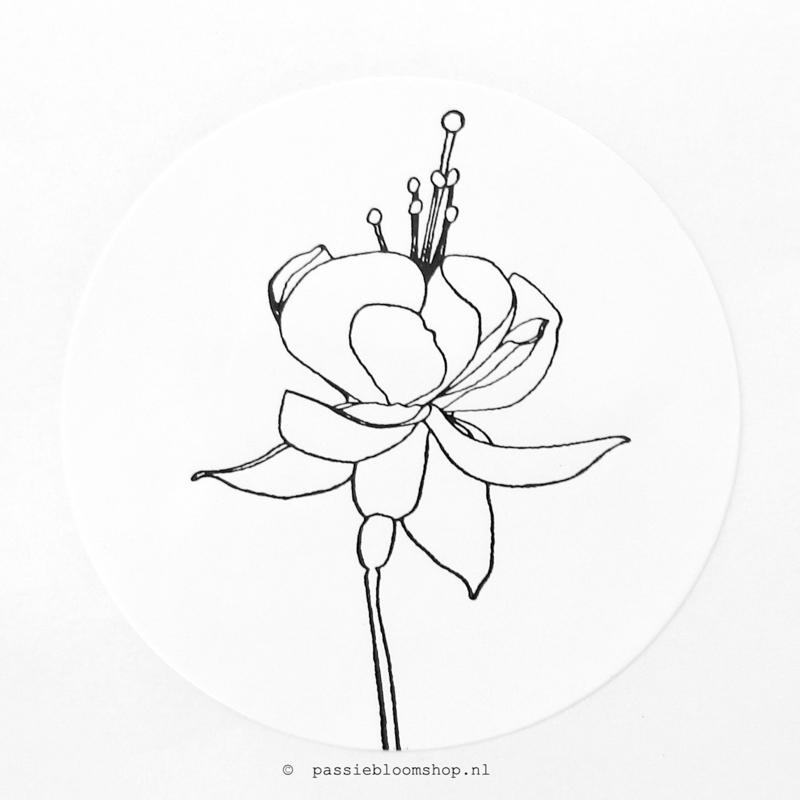 Sluitstickers rond bloem
