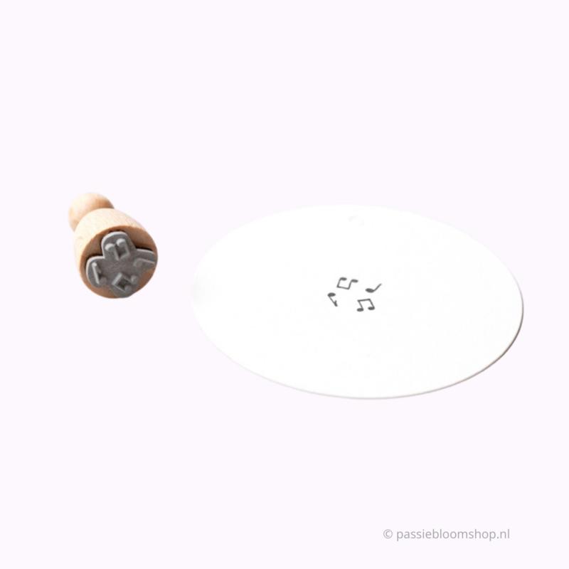Mini stempel M | Muzieknoten
