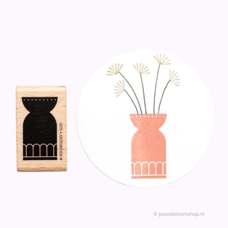 Stempel bloemen vaas
