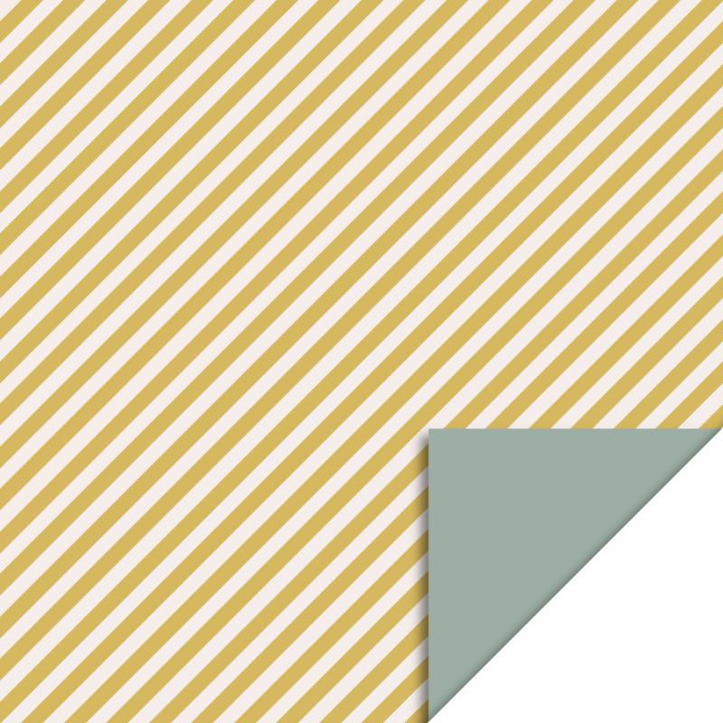 Cadeauzakjes strepen geel