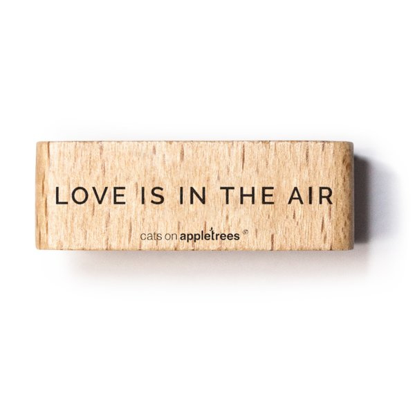Typemachine Tekst stempel love is in the air