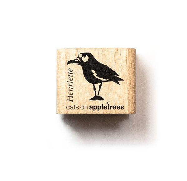 Mini stempel vogel Henriette