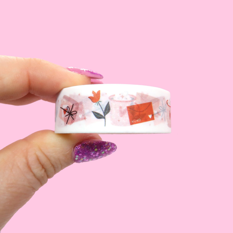 Washi tape love mail