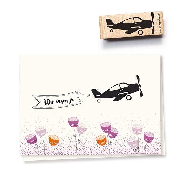 Stempel vliegtuig