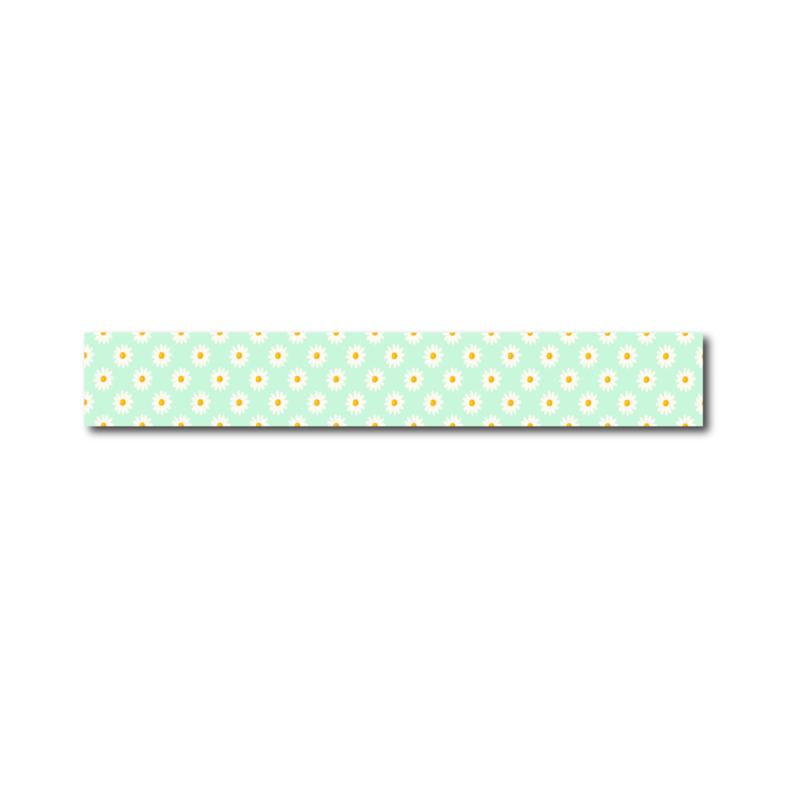 Washi tape mint groene madeliefjes