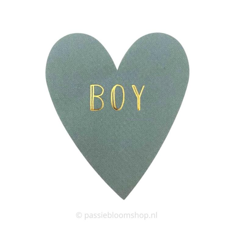 Sluitsticker hartje baby boy blauw