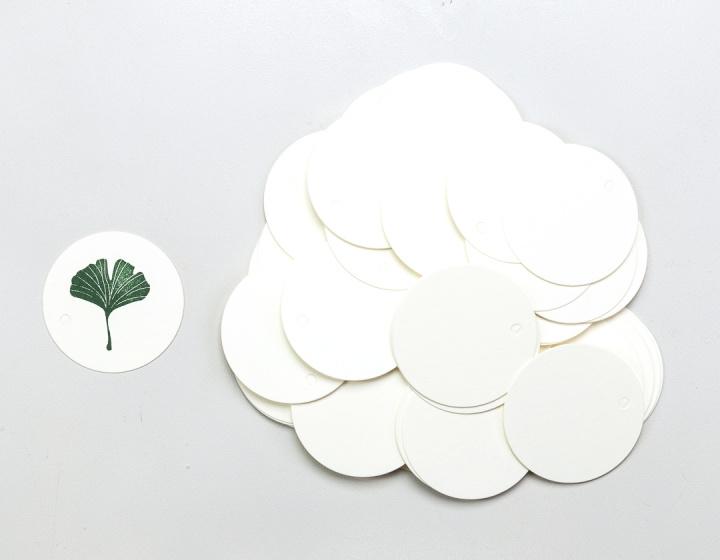 Gift tag blanco rond wit klein (5 stuks)