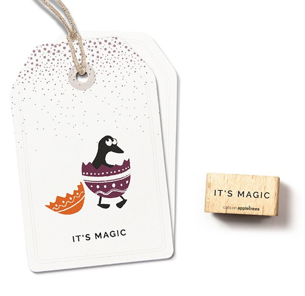 Typemachine tekst stempel it's magic