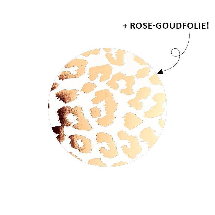 Sticker dierenprint rosegoud