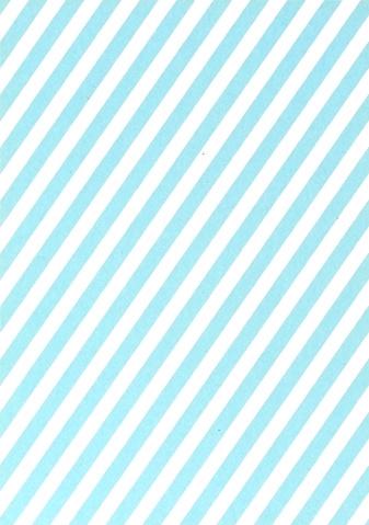 DIY zelf een kaart maken, blauwe strepen A6