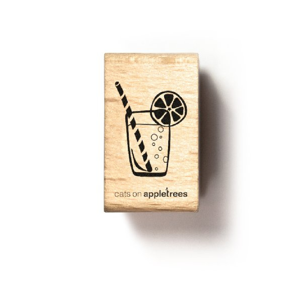 Stempel cocktail glas drinken