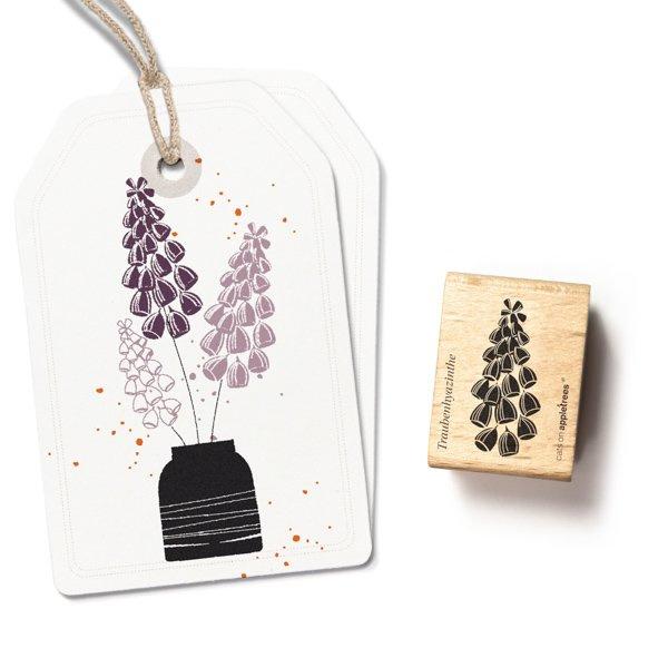 Plant stempel blauw druifje