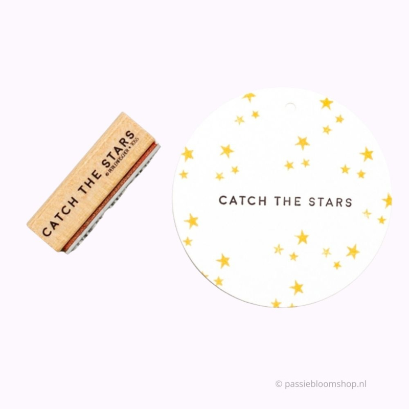 Catch the stars tekst stempel