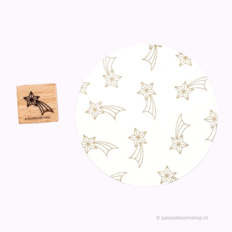 Stempel hout vallende ster