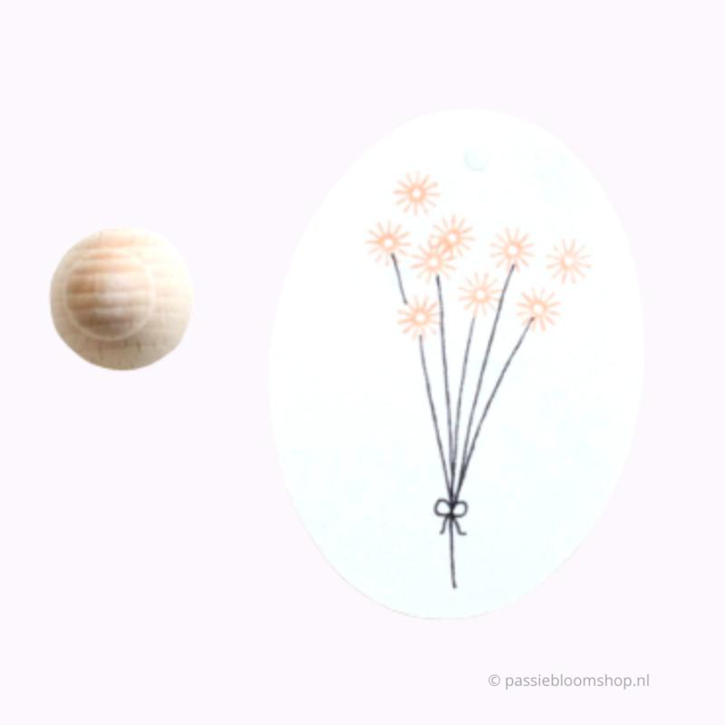 Mini stempel M | 3 bloemetjes